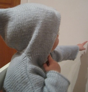 baby in cashmere jumper