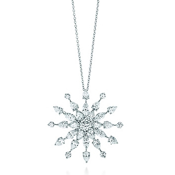 Tiffany snowflae diamond necklace